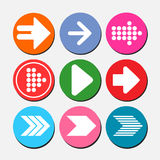 Set of arrow icons, image of Internet buttons Stock Photography