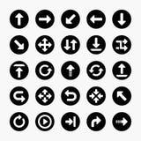 Set of arrow icons. Vector design Stock Photo