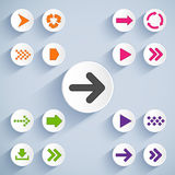 Set of arrow icons Royalty Free Stock Photography