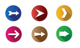 Set of arrow icons vector design template Royalty Free Stock Photo
