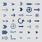 Set of arrow icons Stock Photos