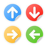 Set of arrow labels. Set of curled corner arrow labels. Vector illustration Stock Photography