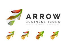 Set of arrow logo business icons Royalty Free Stock Photo