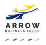 Set of arrow logo business icons Stock Photos