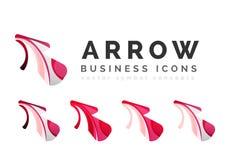 Set of arrow logo business icons Royalty Free Stock Photo