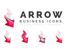 Set of arrow logo business icons Royalty Free Stock Photography