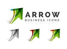 Set of arrow logo business icons Stock Image