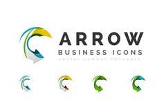 Set of arrow logo business icons Royalty Free Stock Photos