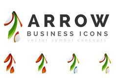 Set of arrow logo business icons Royalty Free Stock Images