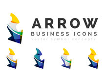 Set of arrow logo business icons Stock Image