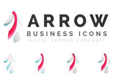 Set of arrow logo business icons Stock Images