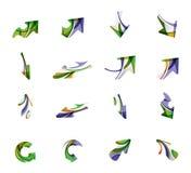 Set of arrow logo business icons Stock Photos