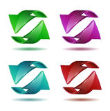Set of arrow stickers Royalty Free Stock Images