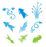 Set of arrows. Vector illustration - a set of objects on a white background arrow vector illustration