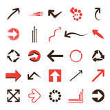 Set of arrows Royalty Free Stock Images