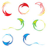 Set of arrows. Collection of colorful symbols created from arrow shape Royalty Free Stock Photography
