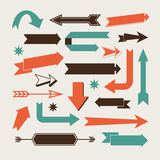 Set of arrows. And directions signs left, right, up down vector illustration