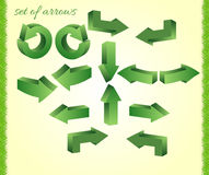 A set of arrows. Background download left forward repeat Royalty Free Stock Photos