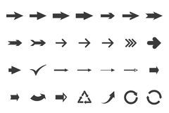 Set arrows Royalty Free Stock Photography