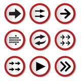 Set of Arrows on Buttons Royalty Free Stock Image