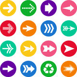 Set of arrows in circles Royalty Free Stock Photos