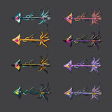 Set of arrows collection vector illustration isolated Stock Image