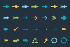 Set arrows. Arrows colored set. vector eps8 Stock Images