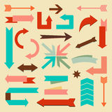 Set of arrows and directions signs. Vector illustration Stock Photo