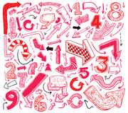 Set of arrows, hand drawn vector illustration Stock Image