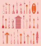 Set of arrows, hand drawn vector illustration Royalty Free Stock Photography