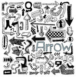 Set of arrows, hand drawn vector illustration Royalty Free Stock Photo
