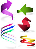 Set of 5 arrows icon. Royalty Free Stock Photo