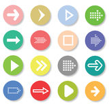 Set of arrows icons Stock Photo