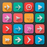 Set arrows icons, flat UI design trend Stock Photo