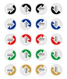 Set of arrows for infographic template in different colors and directions Royalty Free Stock Image