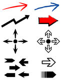 Set of arrows. JPG + Vector Royalty Free Stock Image