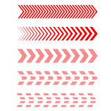 Set of arrows. Linear dots - vector Stock Images