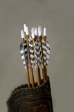 Set of arrows in a medieval quiver Stock Photo