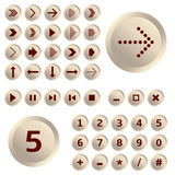 Set of arrows and numbers Royalty Free Stock Images