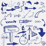 Set of arrows. And pointers Royalty Free Stock Photo