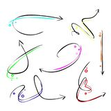 set of arrows in rainbow colors royalty free illustration
