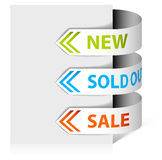 Set of arrows / ribbons for eshop Royalty Free Stock Images