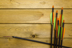 Set of arrows for the sports of archery Stock Images
