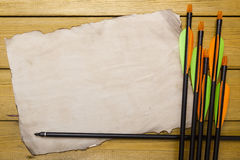 Set of arrows for the sports of archery Stock Image