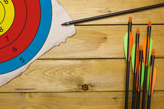 Set of arrows for the sports of archery Royalty Free Stock Image