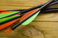 Set of arrows for the sports of archery Royalty Free Stock Photography