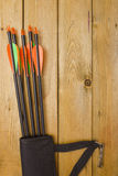 Set of arrows for the sports of archery Stock Photo