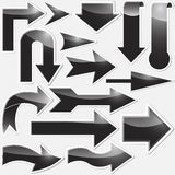 Set arrows stickers. Royalty Free Stock Image