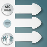 Set of arrows stickers Royalty Free Stock Photos