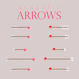 Set of arrows. Set of two colors arrows and 5 variations Royalty Free Illustration